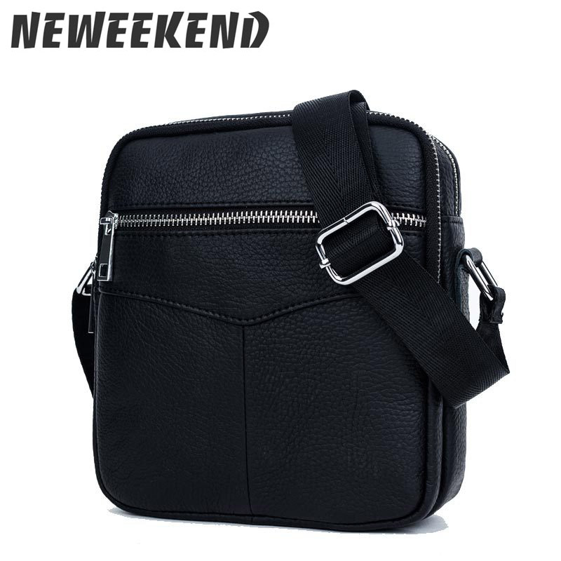 2017 New Genuine Leather Mens Slim Small Crossbody Messenger Handbag Shoulder Business Bag Briefcase Portfolio For Man BC679