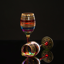 Colored drawing Wine Glass big Champagne Flutes Crystal cup drinking glass Stemware Glasses Coupes Bar Hotel party Drinkware
