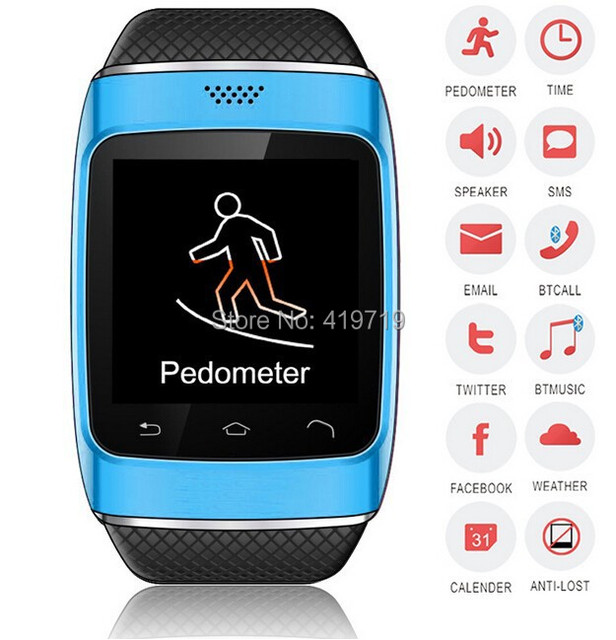 kid mobile hand Bluetooth watch phone price capacitive touch cheap S12 sync facebook twitter email pedometer