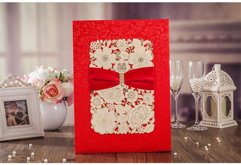 Livre d'or de mariage rouge et or découpé au Laser pour la fête de mariage/fiançailles/décoration de fête d'anniversaire