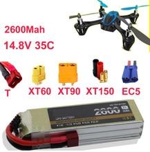 Alta taxa de bateria LIPO 4S drone aeronaves 35c 14.8 v 2600 mah li-poli 35C bateria recarregável de baixa resistência fpv bateria