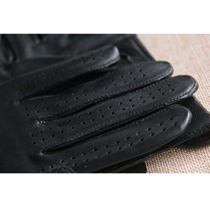 Spring Summer Men 39 s Genuine Leather Gloves 2019 New Touch Screen Gloves Fashion Breathable Black Gloves Sheepskin Mittens JM14 in Men 39 s Gloves from Apparel Accessories