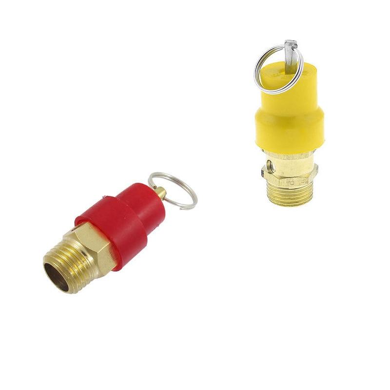 цена на 1pc  1/8' 1/4' 3/8' 1/2'  PT Dia Thread Plastic Metal Safety Valve for Air Compressor