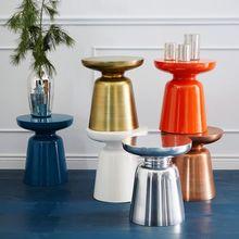 Superior apartment mini coffee stool luxury mini desk blue bronze copper color