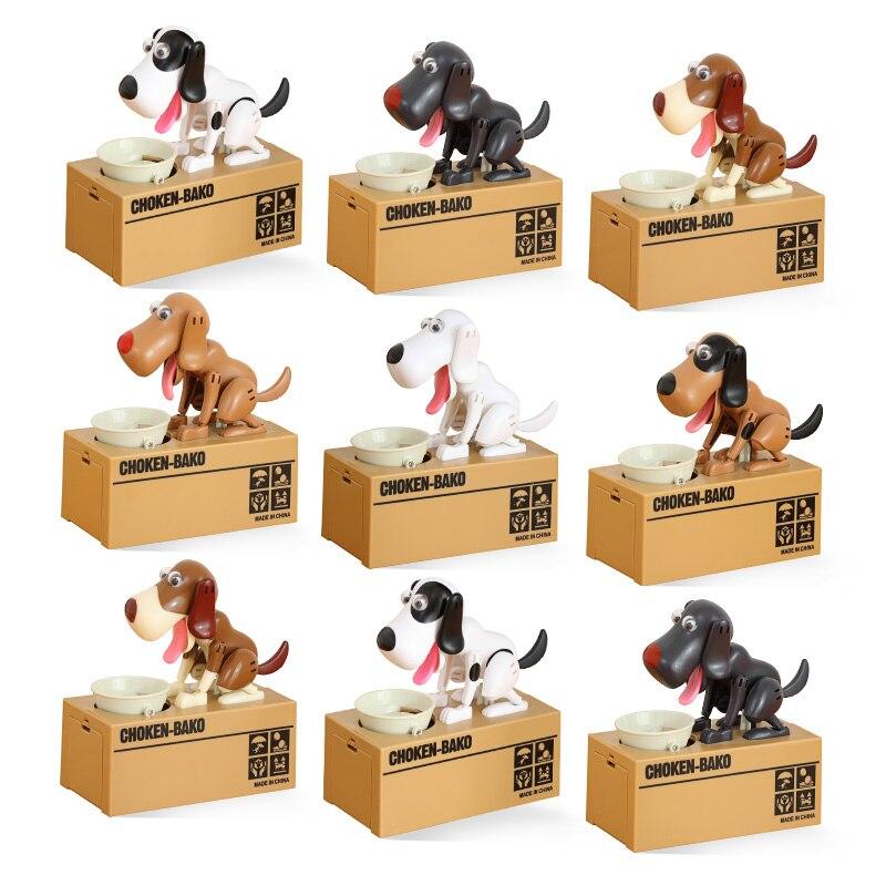 Mealheiro cão caixa de moeda caixas de dinheiro comer moedas dinheiro seguro digital caixa de mesa brinquedo ornamento presentes para crianças hogar casa c001
