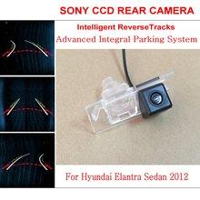 Автомобиль Интеллектуальные Парковка Треки Камеры ДЛЯ Hyundai Elantra Sedan 2012/HD Ночного Видения обратно Камера Заднего Вида/Камера Заднего вида