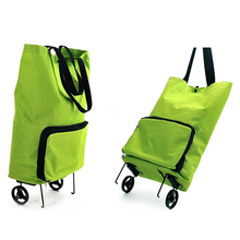 Foldable Rolling Shopping Bag Reusable Shopping Cart Trolley Bag with Wheel недорого