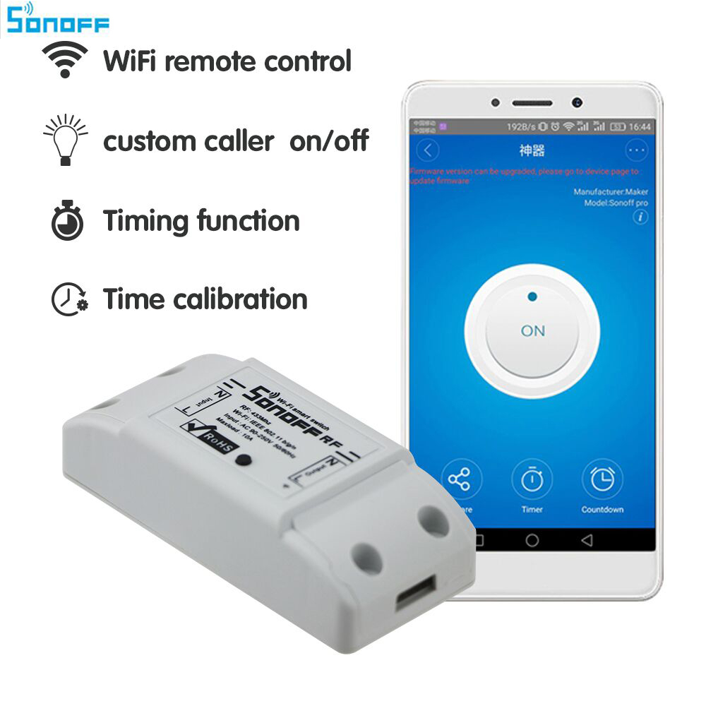 sonoff dc220v Remote Control Wifi Switch Smart Home automation/ Intelligent WiFi Center for APP Smart Home Controls 10A/2200W itead sonoff wifi remote control smart light switch smart home automation intelligent wifi center smart home controls 10a 2200w