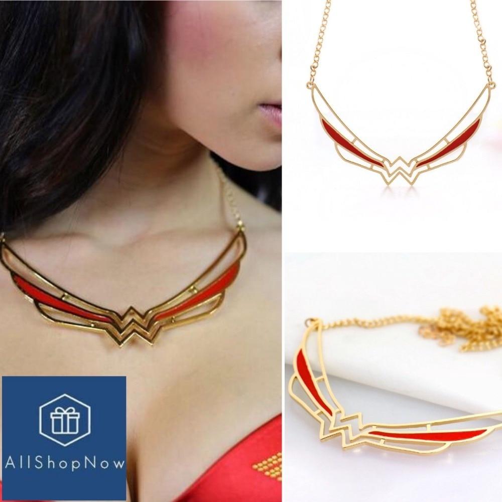 Dropshipping 2017 Wonder Woman Symbol Necklace Super Hero Cos
