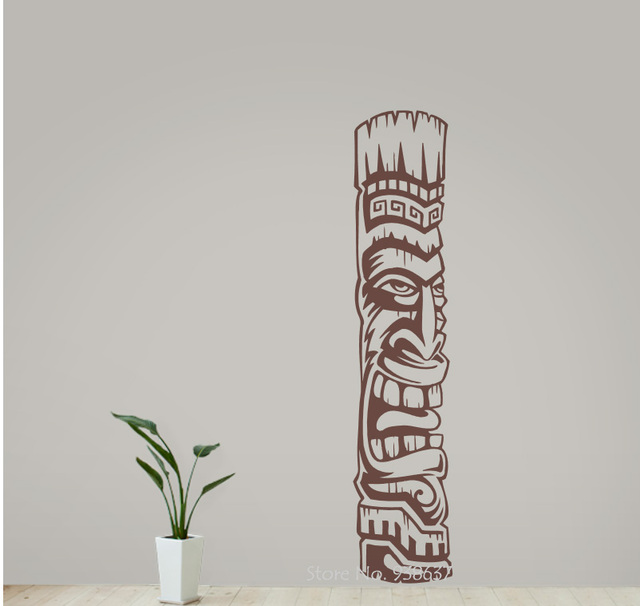 tiki wall decals new arrival vinyl totem stickers home decor living