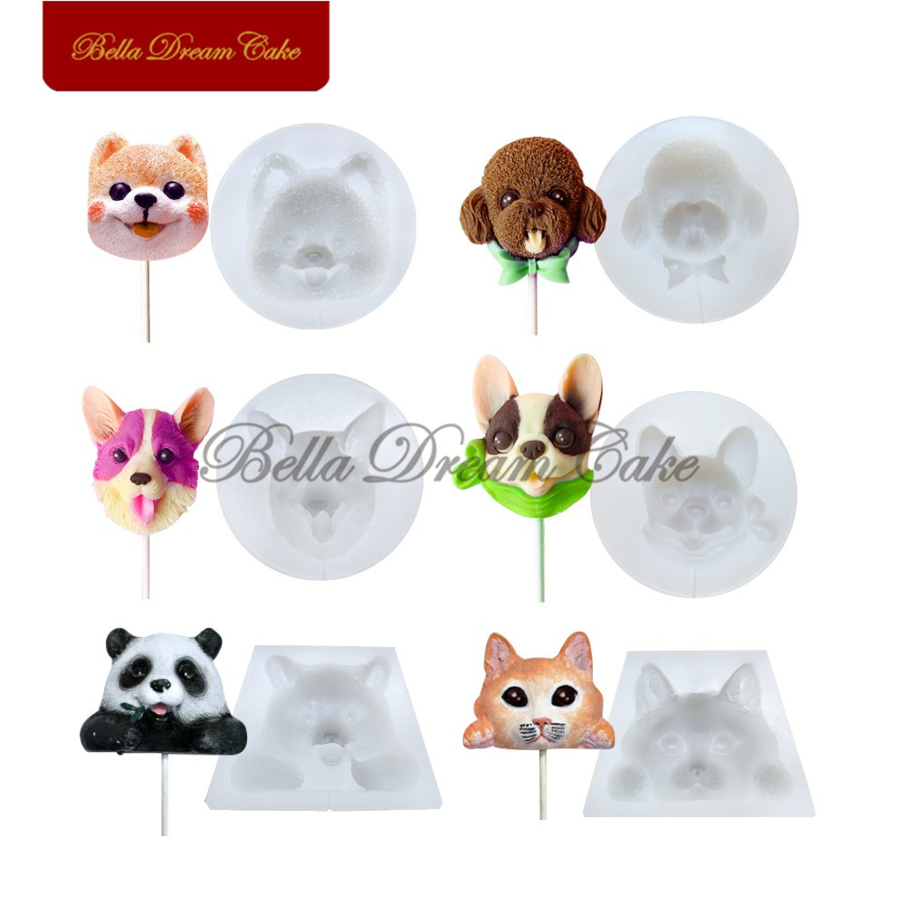 Dog Animals Silicone Cake Mould Fondant Sugar Craft Chocolate Decorating Tool