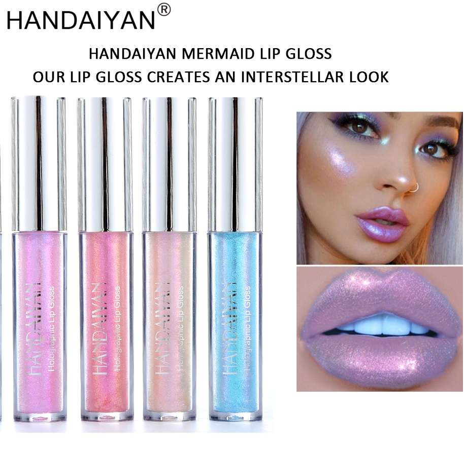 Handaiyan Liquid Crystal Glow Lip Gloss Laser Holographic Tattoo Krim Cream Bb Whitening Lipstick Mermaid Pigment Plumper Makeup Tslm2 In From Beauty