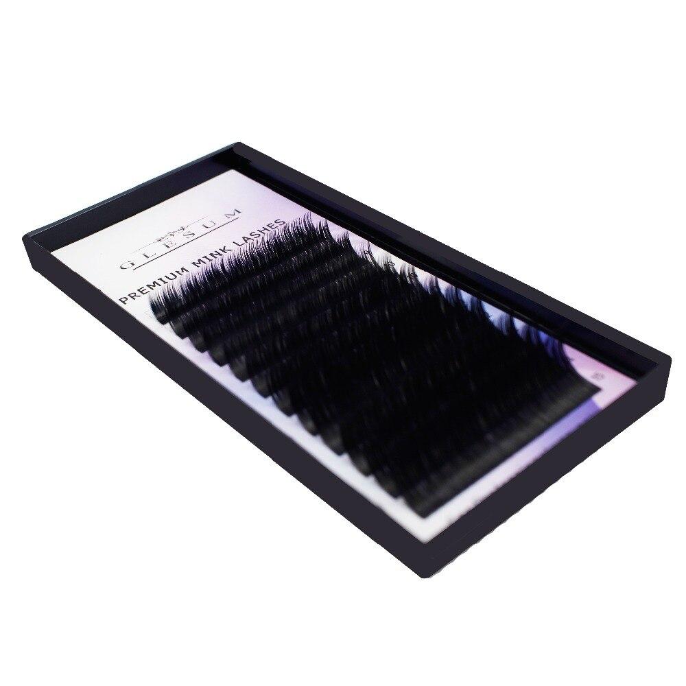 GLESUM эллипса расширение ресницы 8-15 Смешанные 12 линий матовый кашемир плоским ресниц эллипса Бесплатная доставка