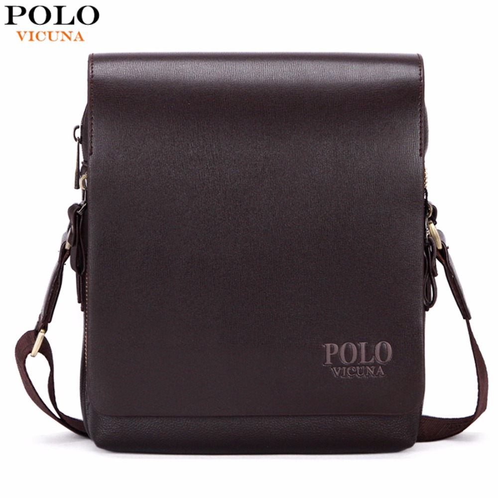 6327151823 VICUNA POLO Fashion Business Leather Men Messenger Bags Promotional Small Crossbody  Shoulder Bag Casual ...