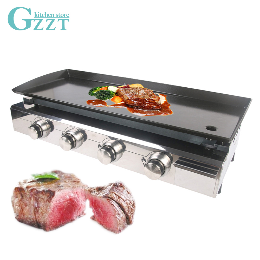 4 burners outdoor use gas plancha lpg gas grill shiny. Black Bedroom Furniture Sets. Home Design Ideas