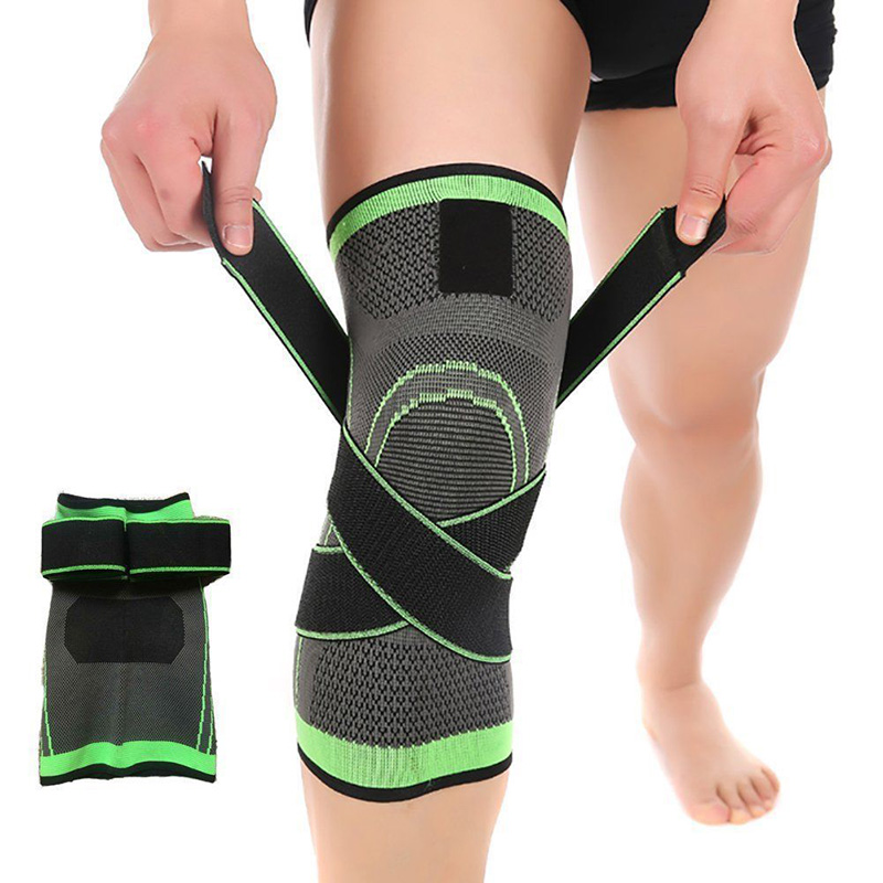3D Pressurized Cycling Knee Support Braces Weaving Breathable Running Jogging Volleyball Knee Pads Professional knee Protector