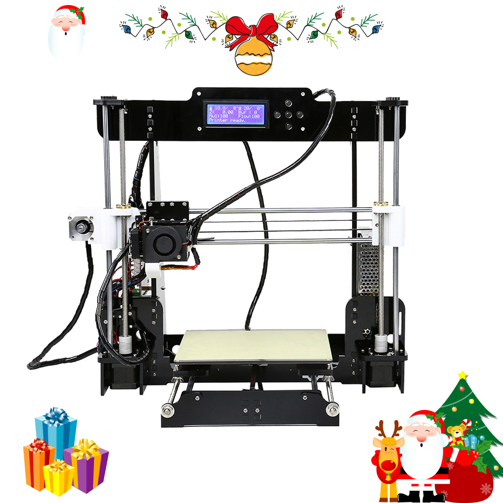 2018 Anet A8 3D Imprimante Machine D'impression Grand Taille Haute Précision Reprap Prusa i3 DIY 3D Imprimante kit avec Filament 8g SD Carte
