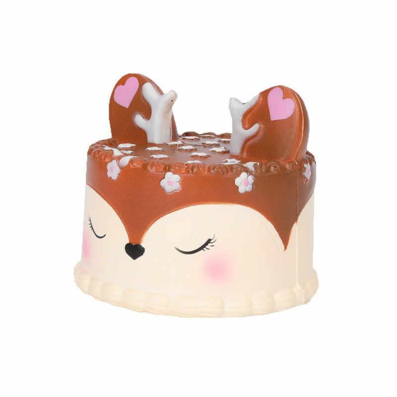 Biscoitos de Chocolate Queijo Bonito Mole Jumbo Lento Aumento Cinta Do Telefone de Brinquedo do Aperto Suave Perfumado Aliviar O Stress Engraçado do Miúdo Presente de Natal