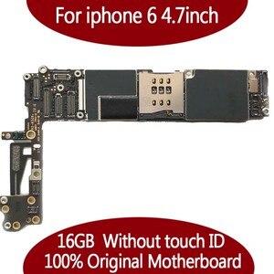 Image 2 - Für iPhone 6 Getestet Gute Arbeits Original Fabrik Entsperrt Motherboard für iPhone 6 logic board mainboard Mit Touch ID