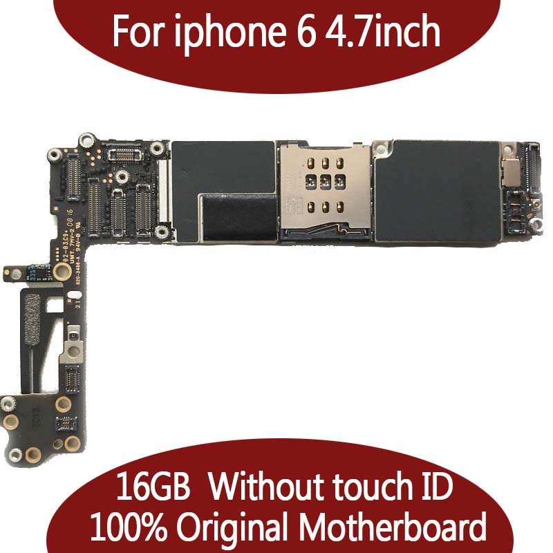 For iPhone 6 Tested Good Working Original Factory Unlocked 16GB Motherboard for iPhone 6 4.7inch mainboard Without Touch ID
