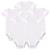 5 Pçs/lote Branco Bodysuit Bebê Unisex Em Branco a Roupa Do Bebê Recém-nascido Conjunto de Roupas de Verão Da Menina do Menino Roupas de Manga Curta Aceitar Personalizado