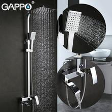 Купить с кэшбэком GAPPO Bathtub Faucets wall mounted bathroom shower faucet set bath shower tap waterfall stainless shower head mixer