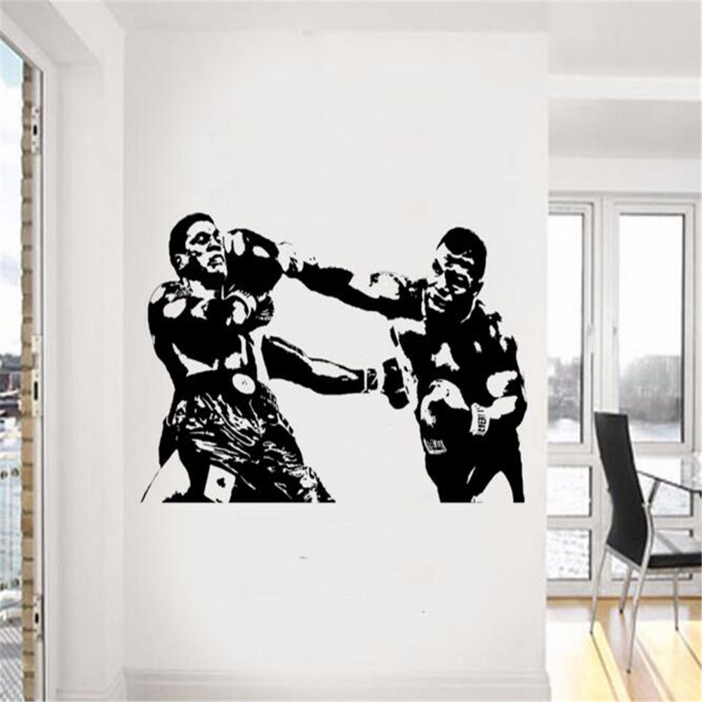 wall mural ideas promotion shop for promotional wall mural ideas mike tyson wall decal sport boxing vinyl sticker dorm club home decor ideas room interior creative art mural