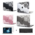 Beautiful Design Lace Smooth Soft Touch Hard Case Cover For Mac book Pro 13 15 Touch Bar Released 2016 Models A1706/A1708/A1707