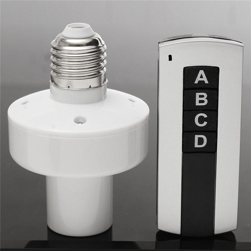 Smart 7A E27 Screw Wireless Remote Control Light Base Lamp Bulb Holder Cap Socket Switch Lighting Accessories About 30m AC 220V e27 wireless remote control switch light bulb socket white ac 110 220v
