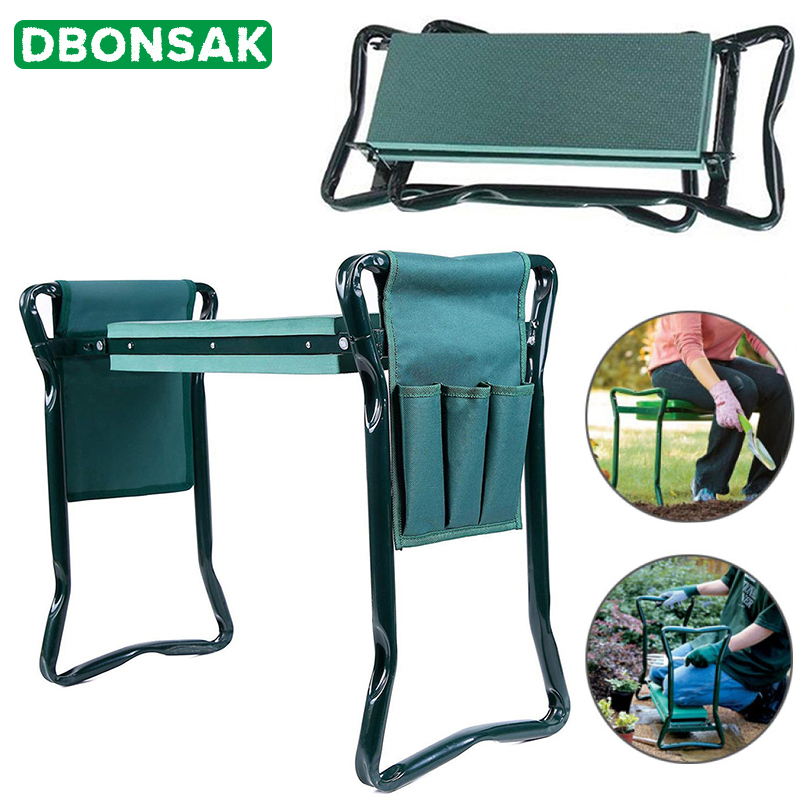 Garden-Stool Seat Kneeling-Pad Folding With Tool-Bag EVA Supply Stainless-Steel And