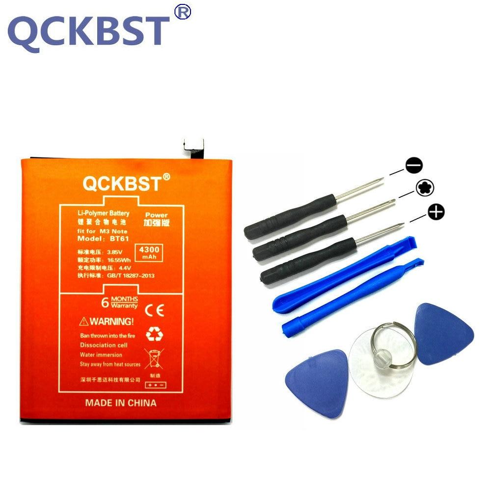 QCKBST BT61 Batterie Pour Meizu M3 Note M681H M681 Téléphone Haute Capacité De Remplacement Batterie Bateria 4300 mAh + Code De Suivi