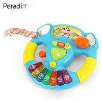 Peardix Symulacja Kierownicy Kierownicy Kierownicy Zabawki Zabawki Dla Dzieci Niebieski Plastik Pomarańczowy Trąbka Miga Możliwość Uchwycenia Muzyki