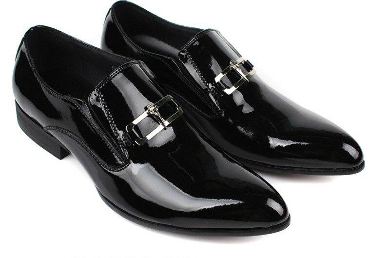 Suur suurus EUR45 Must mens kleit kingad mees äri kingad nahast - Meeste jalatsid - Foto 2