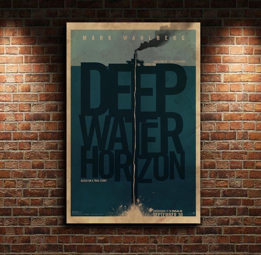 Deep Water Horizon Based on a True Story Movie Canvas Poster Wall Art Print Kids Decor Home Decor image