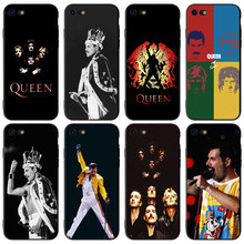 Freddie Mercury Wembley Queen Black Silicone phone Cases for Apple iPhone 6 6S 7 8 Plus X XR XS MAX 5S SE Soft TPU case cover mercury goospery i jelly case for iphone se 5s 5 metallic finish tpu cover black