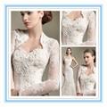 2015 новая модная куртка свадьба кружева с длинным рукавом пиджак люкс Большой размер свадьба обертывания ( ASPS-1036 )