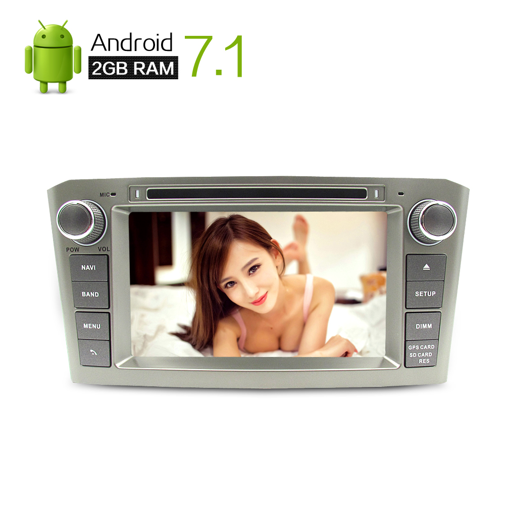 """imágenes para 7 """"HD 2G RAM Android 7.1 Del Coche DVD Headunit Estéreo Para Toyota Avensis 2003-2008 PC Auto Radio GPS de Navegación de Audio y Vídeo Navi"""