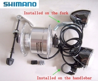 SHIMANO Bicycle Power Generation Hup Dynamo DH 2N71 6V 2.4W 36Holes Front Bearing Hub with Led Head Lamp Alloy Bike Parts 2018