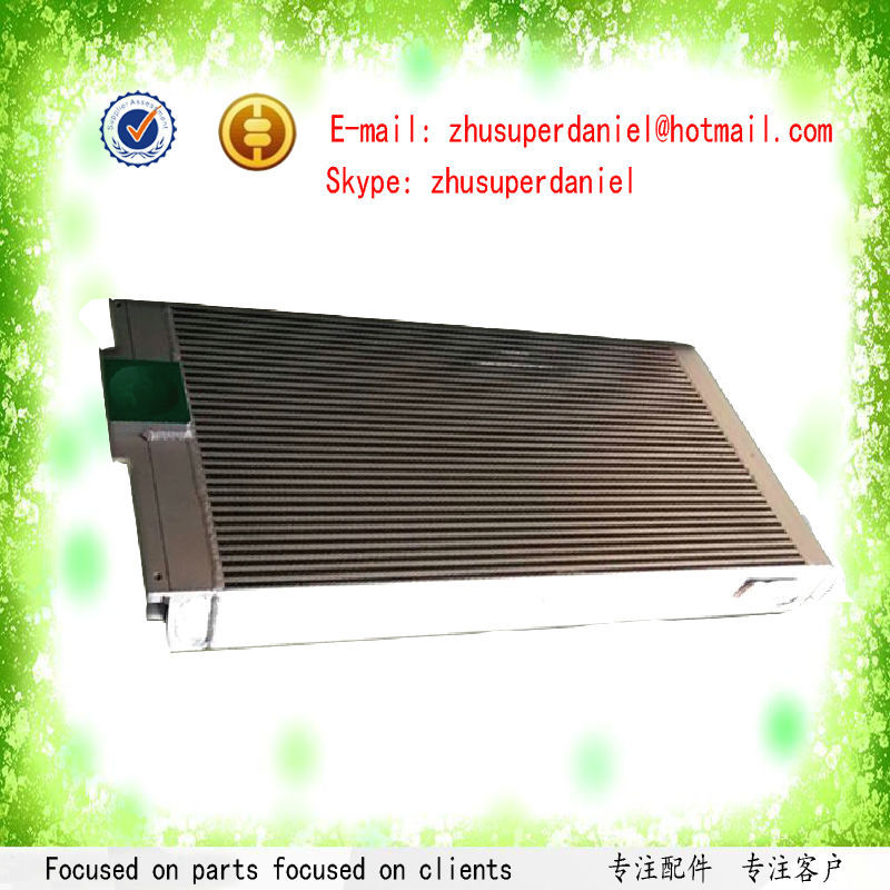 Black aluminum plate-fin air oil radiator 54762224 for oil free Air Compressor Parts цена