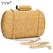 YYW Straw Summer Clutch Bag Fashion Bolsa Feminina Women Over Shoulder Female Evening Handbag Prom Party Sac
