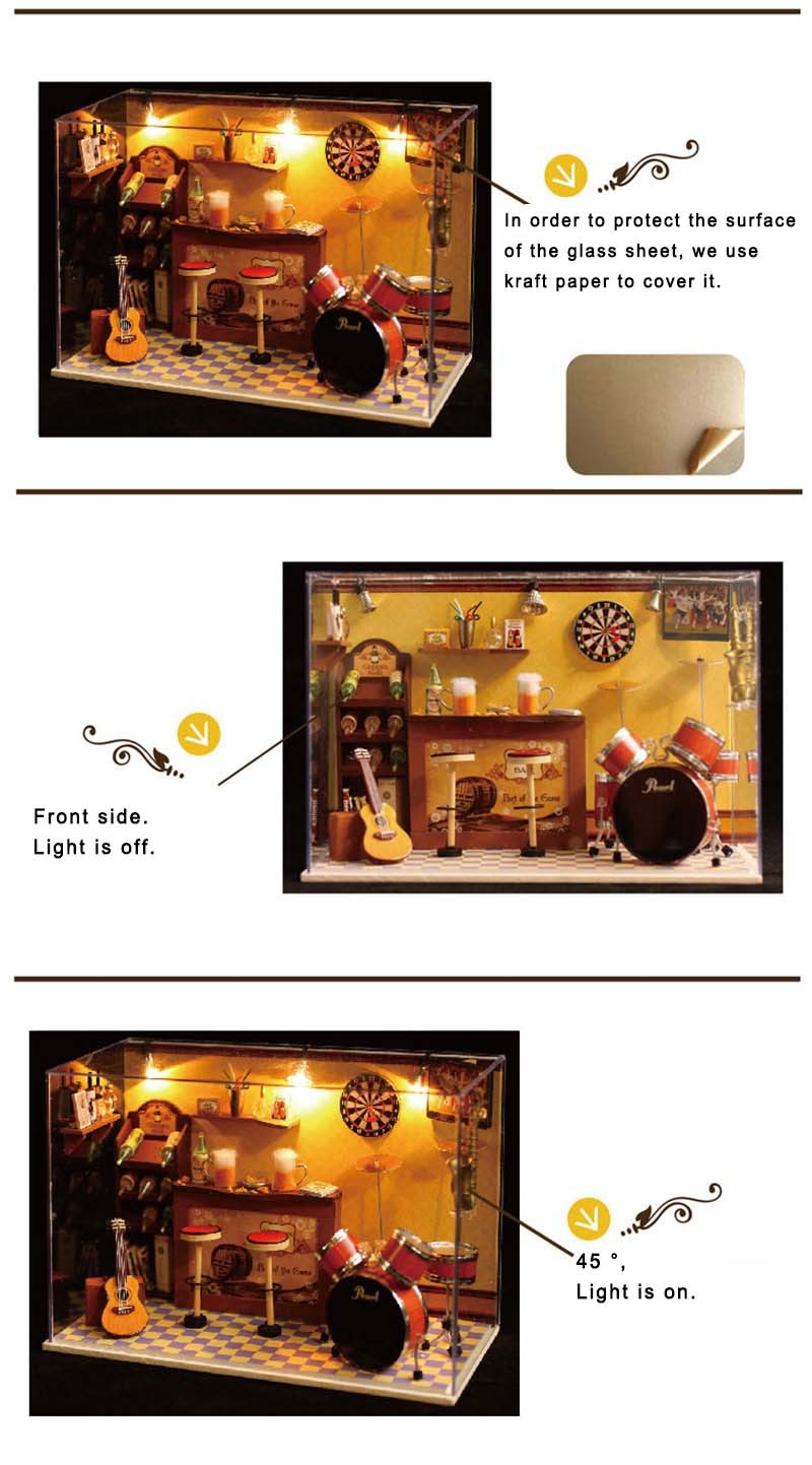Green's Bar DIY 3D Dollhouse