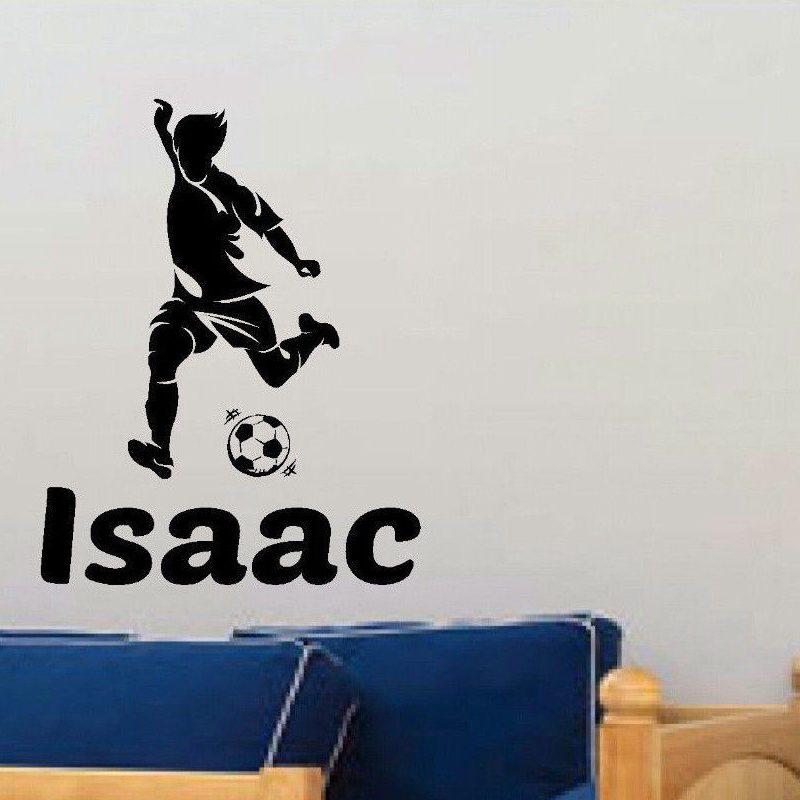 DCTAL Football Sticker Soccer Decal Kids Room Name Posters Vinyl - Vinyl wall decals kids