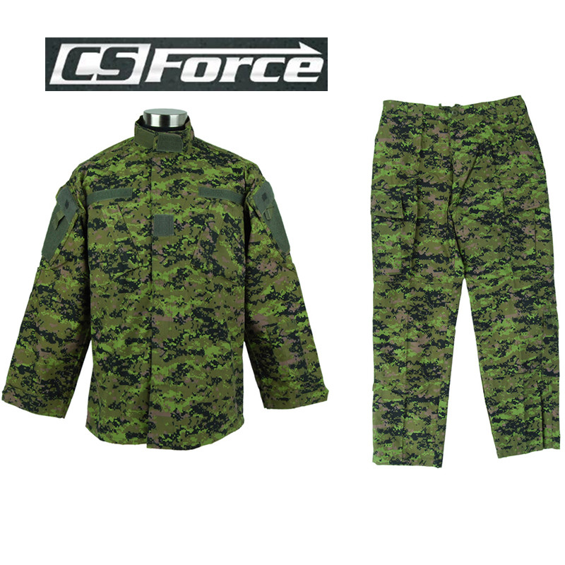 Airsoft Military Canada Digital Camo Tactical Special Force Uniform Shirt and Pants Outdoor Sports Army Paintball BDU Uniform black tactical bdu uniform field shirt and pants clothes for hunting and finshing men outdoor paintball military wargame suit