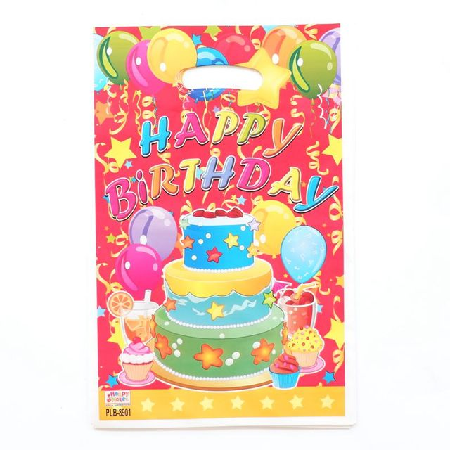 10pcs Hy Birthday Gift Bag Party Loot Supplies Kids Candy Bags