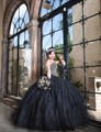 Preto 2017 vestido de baile quinceanera vestidos frisada pedrinhas e pérolas masquerade vestido sweet 16 vestidos vestidos de 15 anos