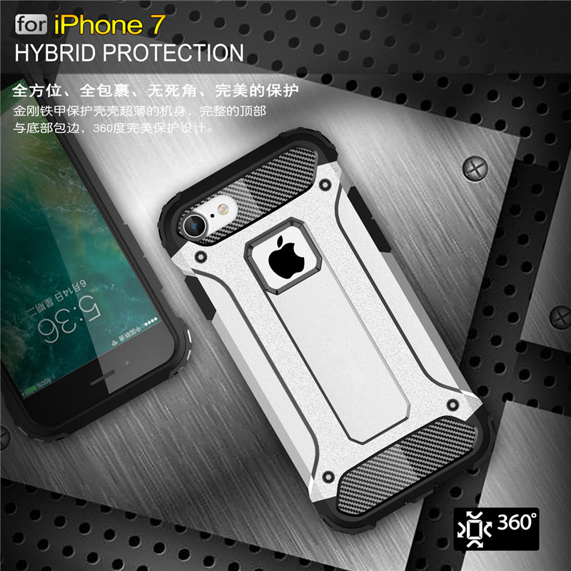 KRY Phone Cases for iphone 6 Case 6s Plus Armor Stand Hard Rugged Impact Coque Capa Cover for iphone 7 Case 7 Plus