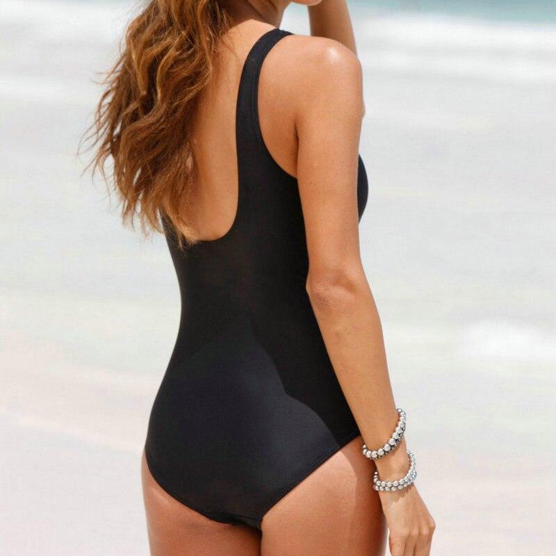 2017 New large Plus size 4XL Bikini Brazilian One Piece high waist Swimsuits Sexy Swimwear Women Charming Push Up Bathing Suits