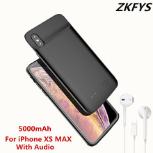 ZKFYS 5000mAh Portable High Quality Ultra Thin Fast Charger Battery Cover For iPhone XS MAX Silicone Shockproof Power Bank Case