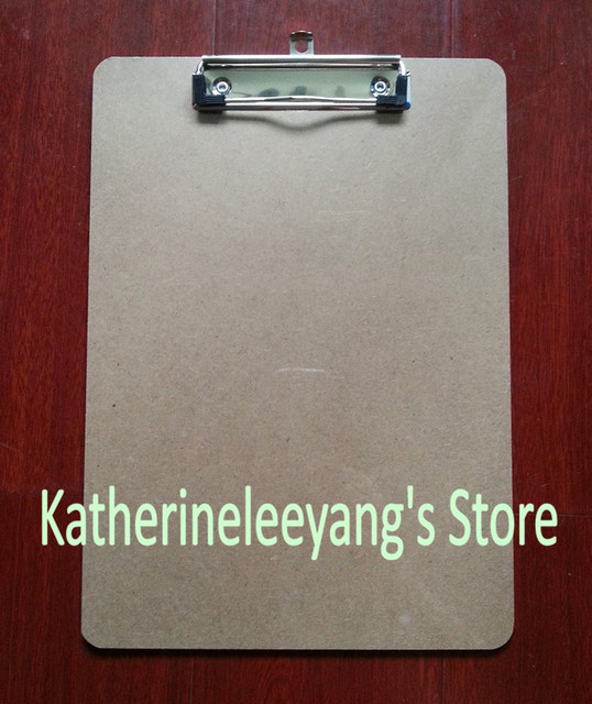Free Shipping Office Supplies A4 Mdf Clip Board Wooden File Clipboard Portable Menu Folder Stationery
