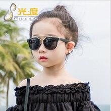 11b228e35 2018 nova moda infantil óculos de sol meninas UV400 da segurança do bebê  criança crianças óculos